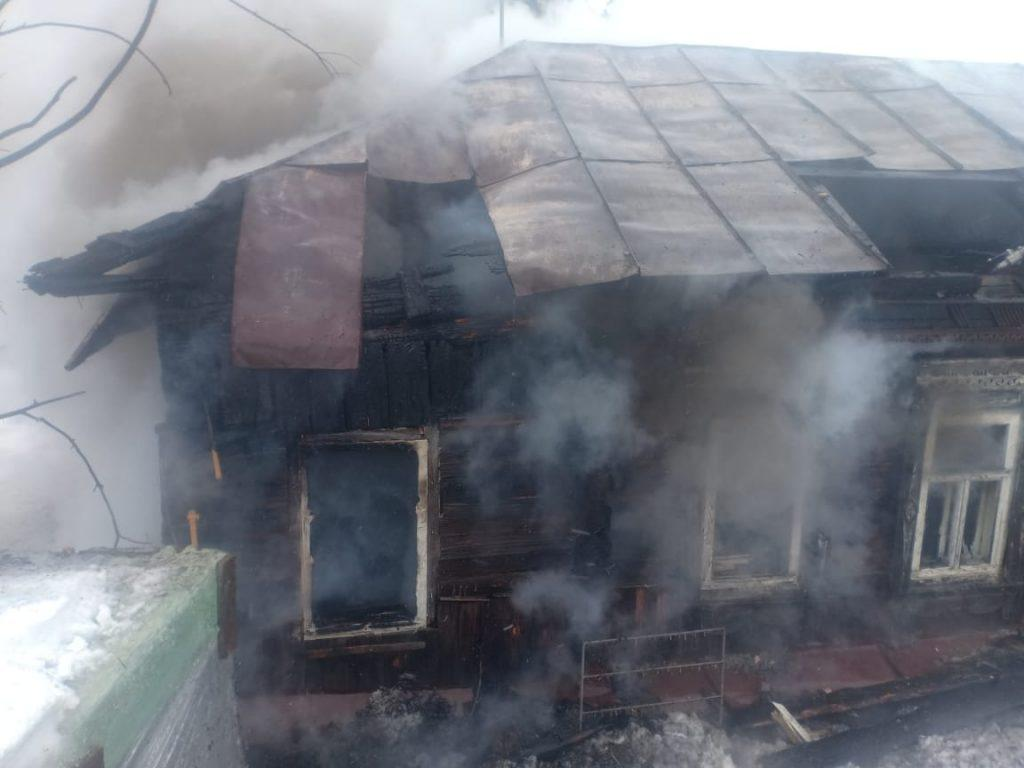 В Спасском районе сгорел деревянный дом