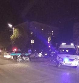 В Рязани произошло массовое ДТП с участием трех автомобилей и мотоцикла