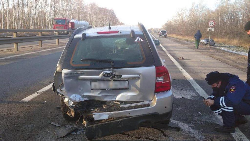 Под Рязанью в ДТП пострадали водитель 16-летний подросток