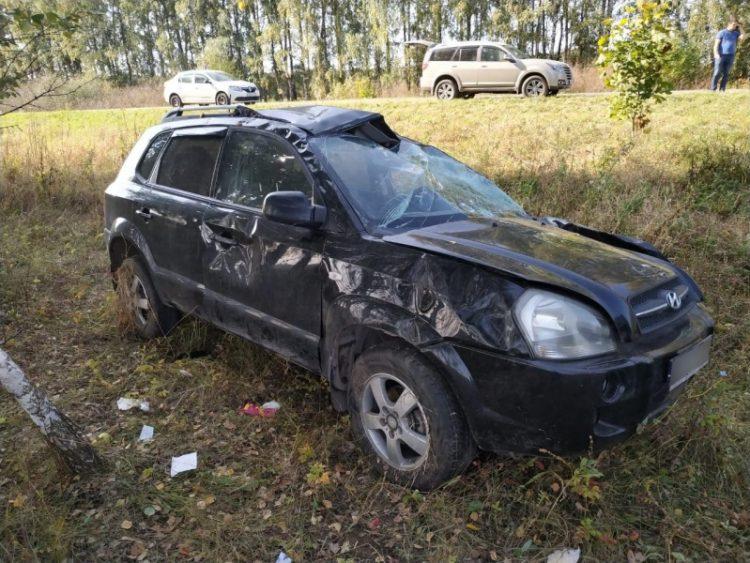 В ДТП в Старожиловском районе пострадали трое человек