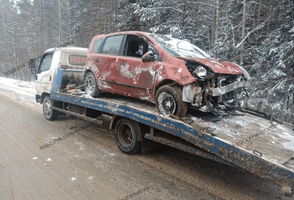 В Клепиковском районе автомобиль вылетел в кювет и перевернулся