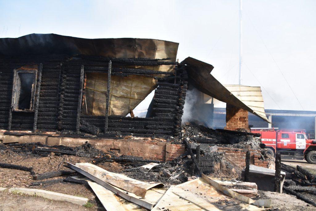 В Спасском районе сгорел учебный корпус бывшего педколледжа