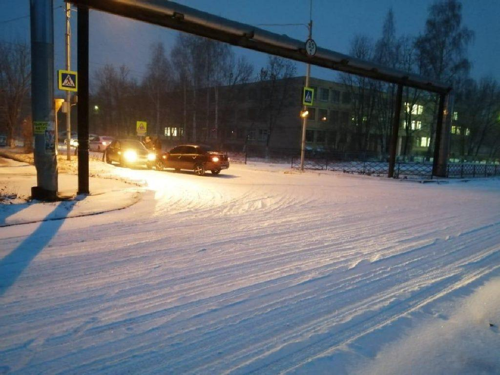 В Пронском районе произошло два ДТП после снегопада