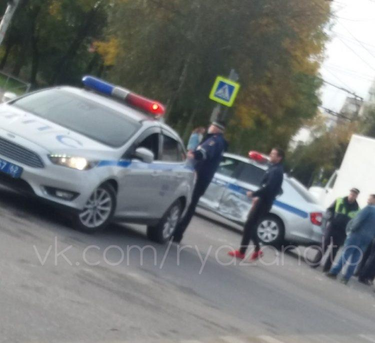 В Дашково-Песочне полицейская машина попала в ДТП