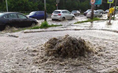 5 июля  в Рязани и Рязанской области прошли грозы со шквалистым ветром