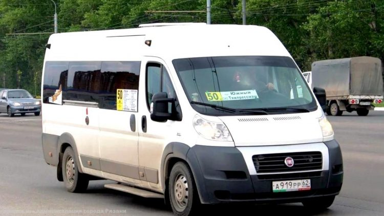 В Рязани изменится конечная остановка маршрутки №50