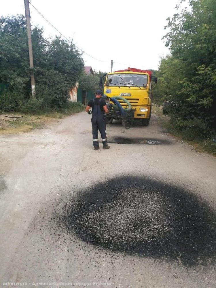 В Рязани отремонтировали еще 12 участков дорог