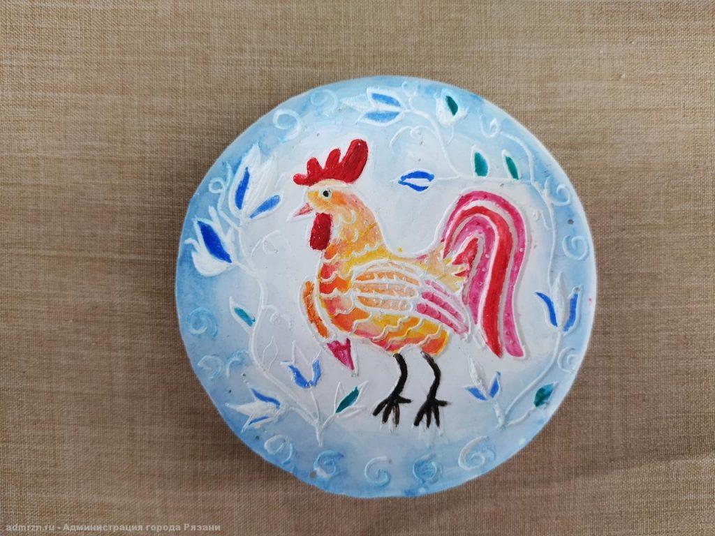 Горожан приглашают на выставку «Новогодняя мозаика», подготовленную маленькими рязанцами