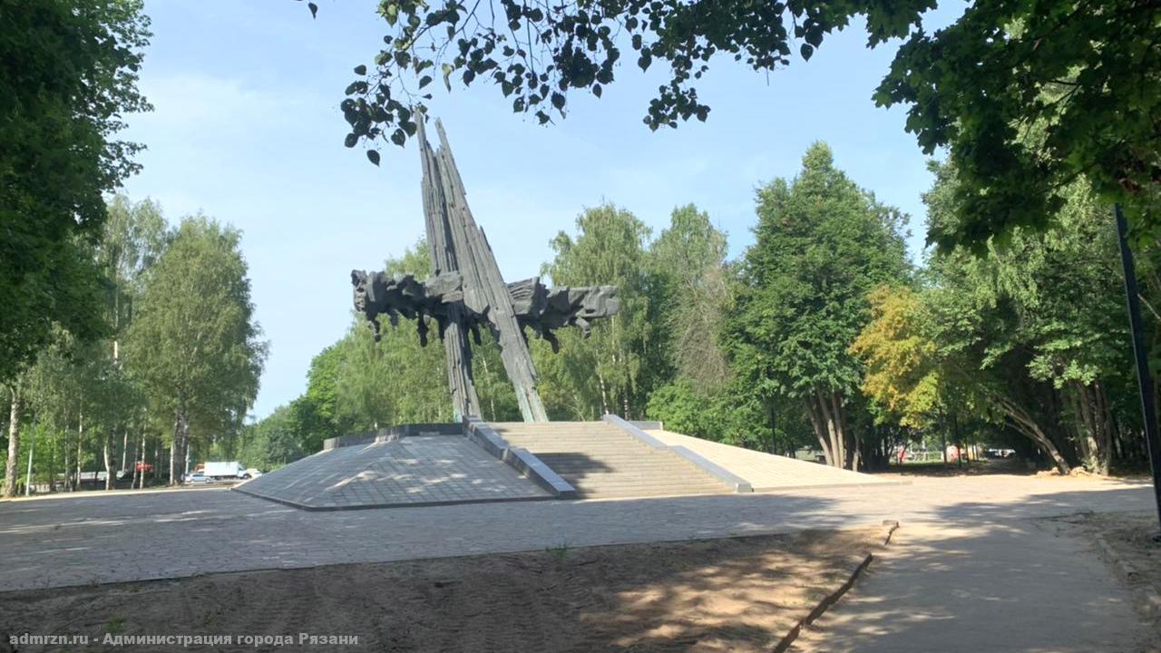 В мэрии Рязани отчитались о ходе работ по благоустройству в парке Советско-Польского братства по оружию