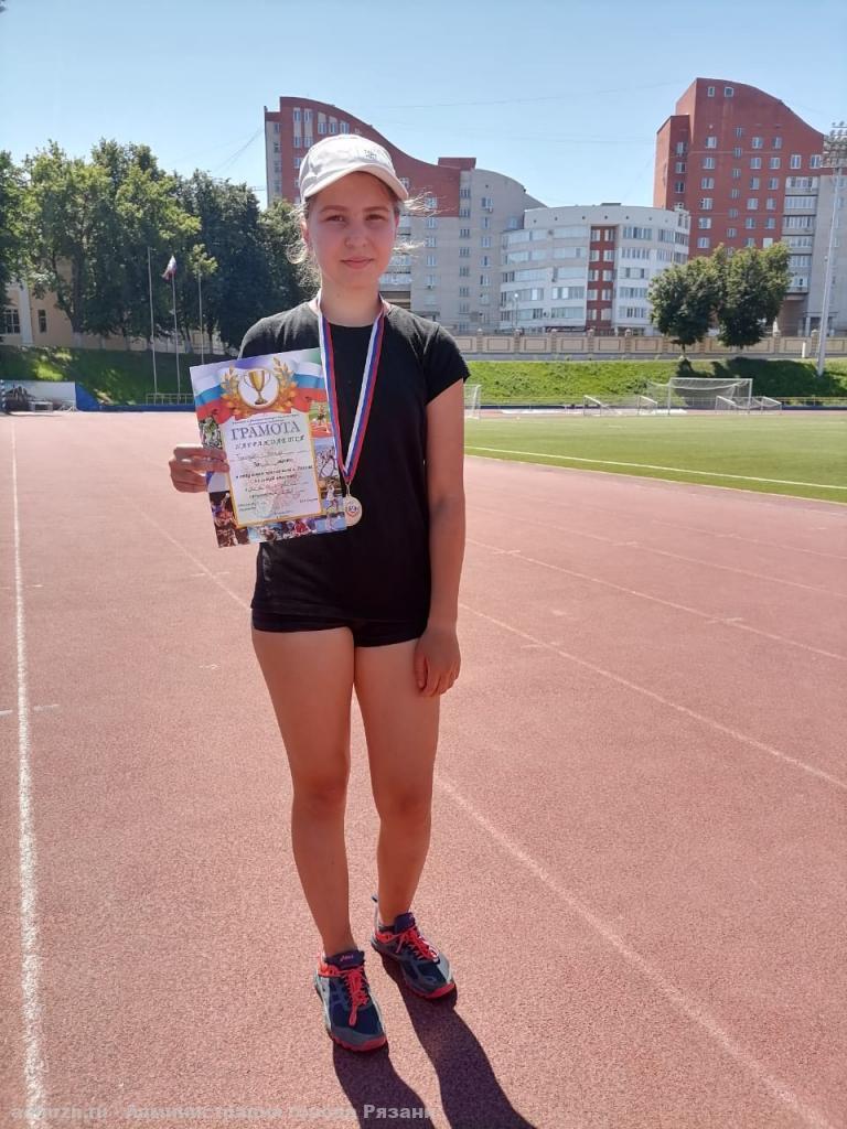 Золотую медаль в «Есенинском пробеге» завоевала спортсменка из спортшколы «Юность»