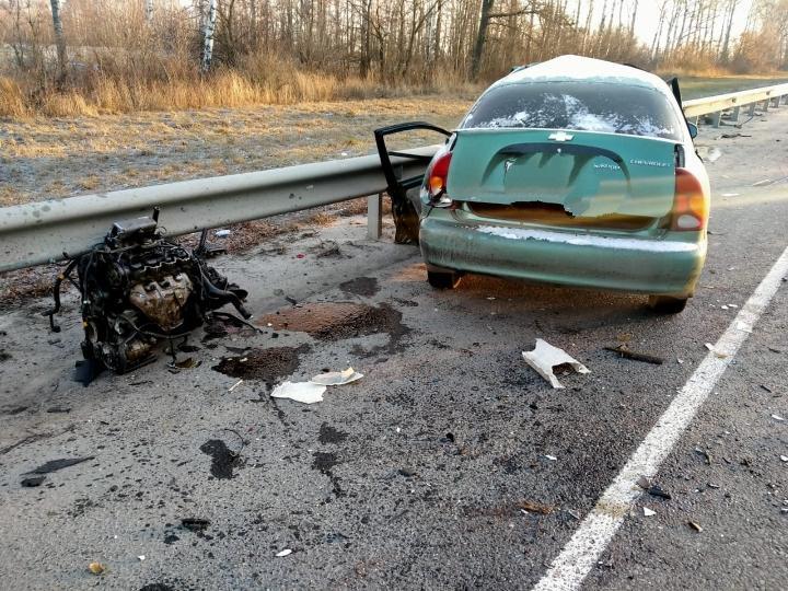 В Путятинском районе водитель грузовика врезался в остановившуюся легковушку