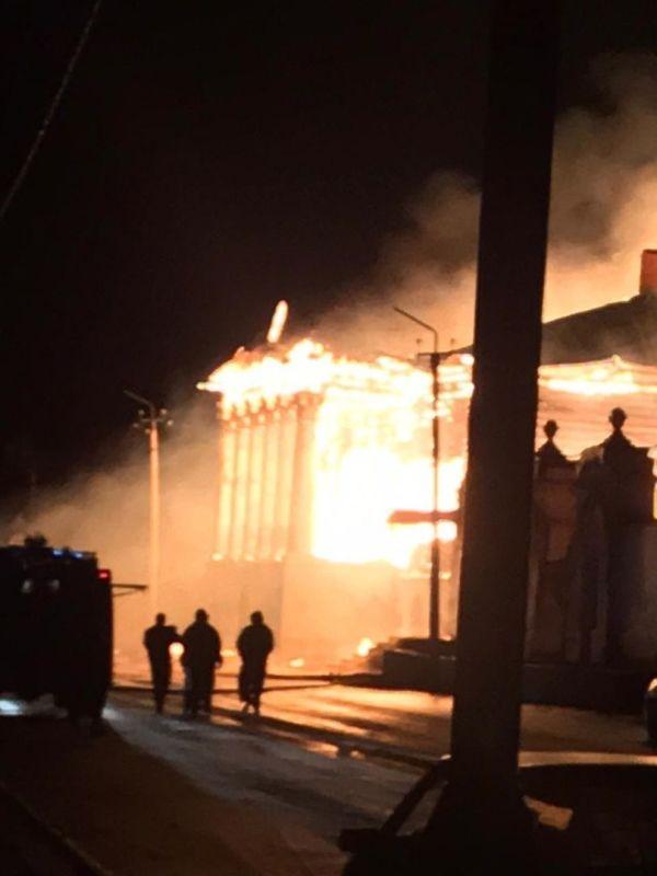 Ночью в Касимове сгорел памятник архитектуры федерального значения