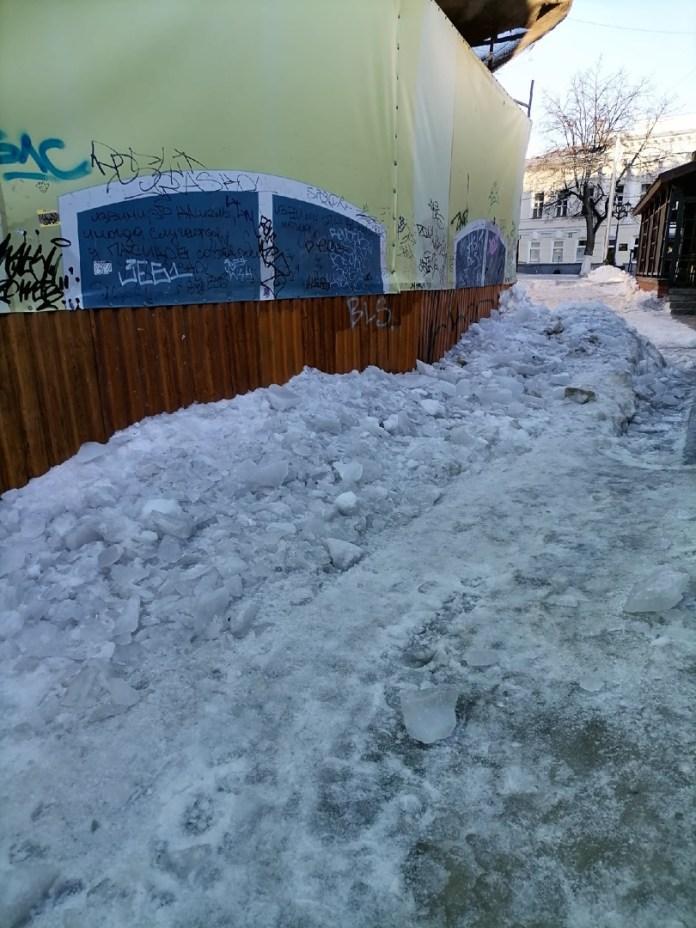Мэрия Рязани пообещала расчистить снежные завалы на улице Мюнстерской 4 марта