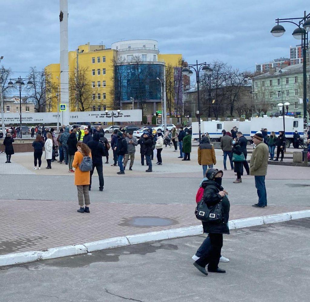 В центре Рязани прошла несанкционированная акция