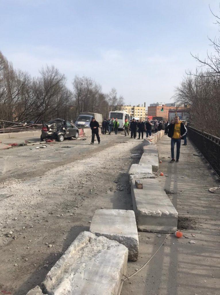На мосту через Трубеж произошло массовое ДТП